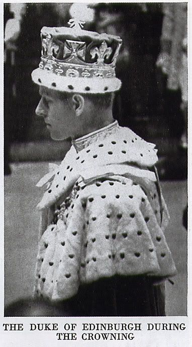 The Duke of Edinburgh in a coronet