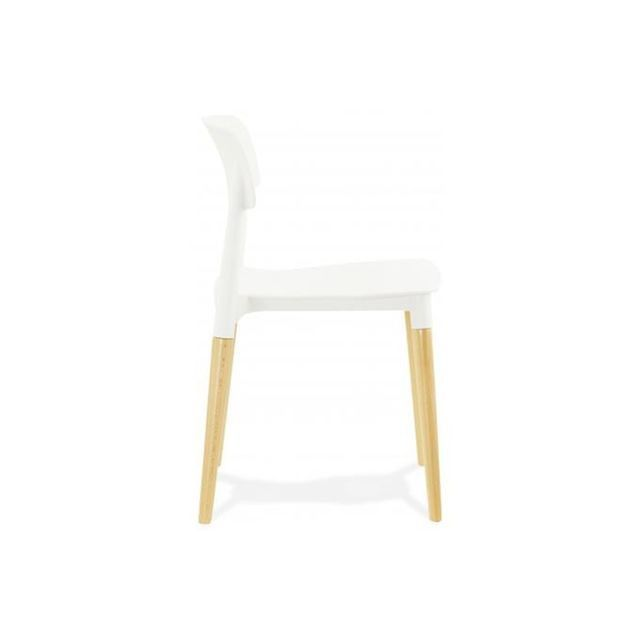 Chaise Blanche Pieds Bois Style Scandinave Beauty Chaise Chaise Cuisine Chaises Bois