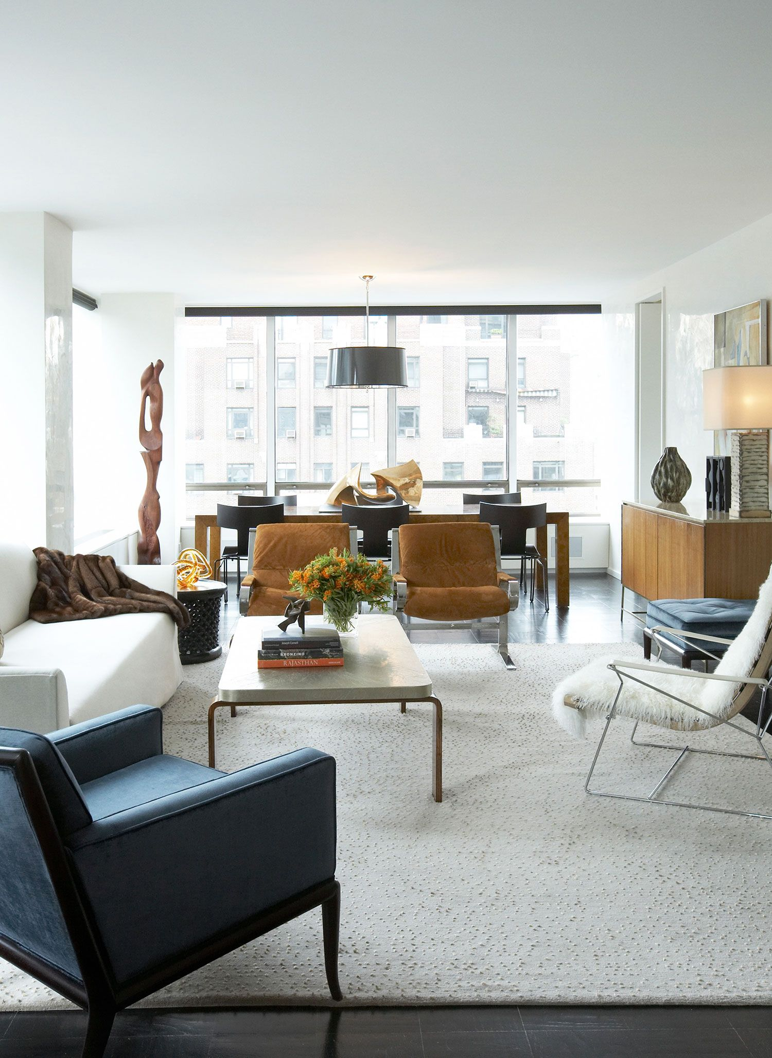 Un Plaza Living Room Living Contemporary Eclectic By David Scott
