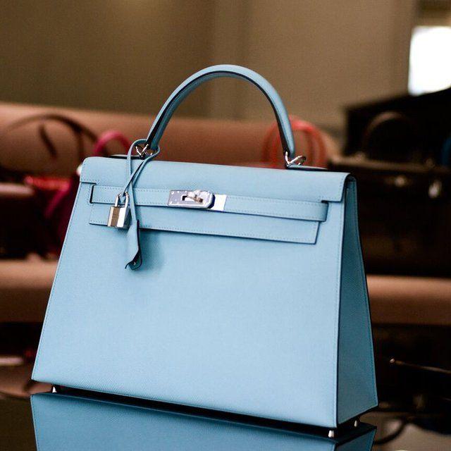 354a3f29fb3 Fancy - Hermes Kelly Bag 32cm Blue Atoll Togo