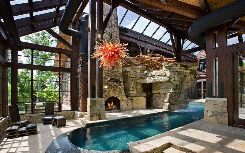 Timber Frame Homes Beautiful Pools Beautiful Homes Pool Houses