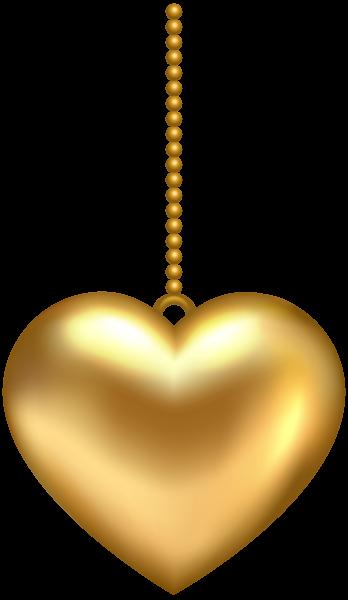 Hanging Golden Heart Png Clip Art Image Art Images Clip Art Image