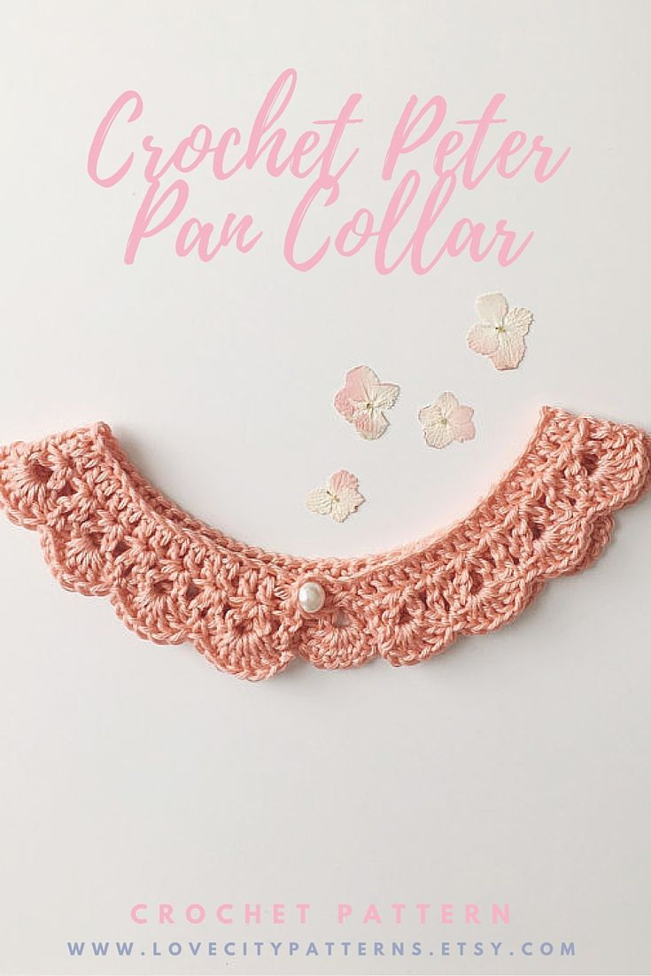 Peter Pan Collar Crochet Pattern Lace Collar Necklace Peter Etsy Crochet Collar Pattern Crochet Patterns Crochet