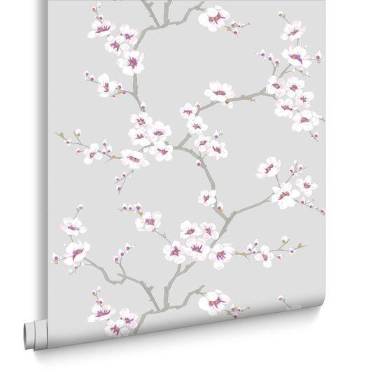 Apple Blossom Tree Grey Wallpaper Graham Brown Cherry Blossom Wallpaper Tree Wallpaper Floral Wallpaper