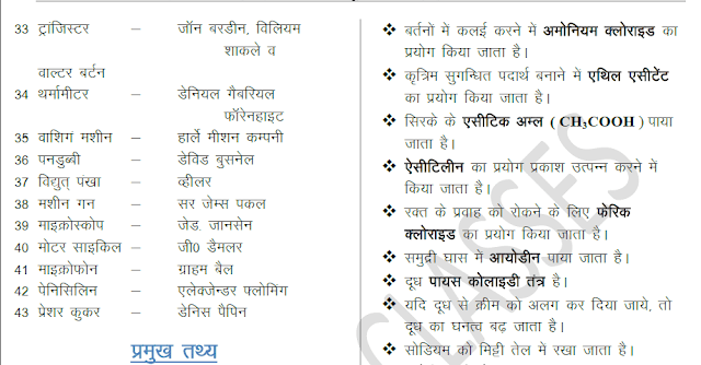General Science Exam Tonic in Hindi PDF Download | SSC NOTES