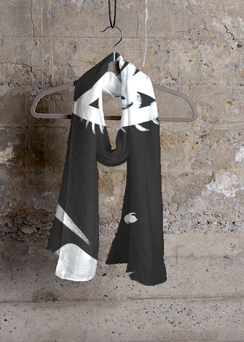 Ode to Cindy - scarf for VIDA - Who is VIDA? VIDA is a company that brings artists and makers together from around the world to create original, inspiring apparel in a socially conscious way  #ecofriendly #fashion #makeadifference