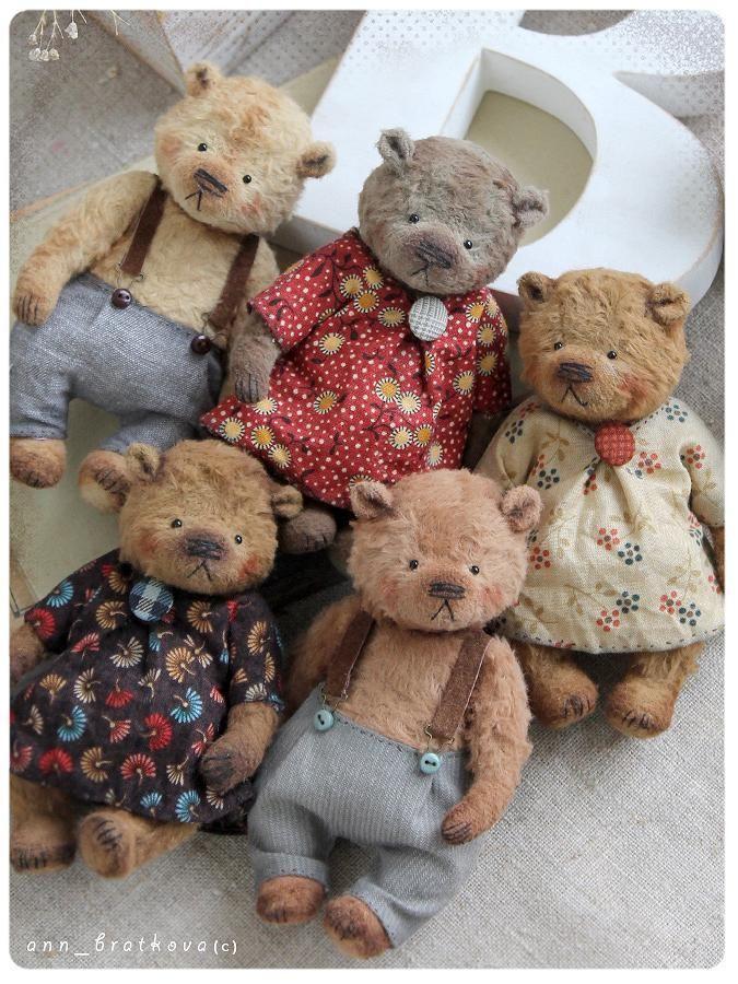Tiny bear Marta by Anna Bratkova on #teddybear