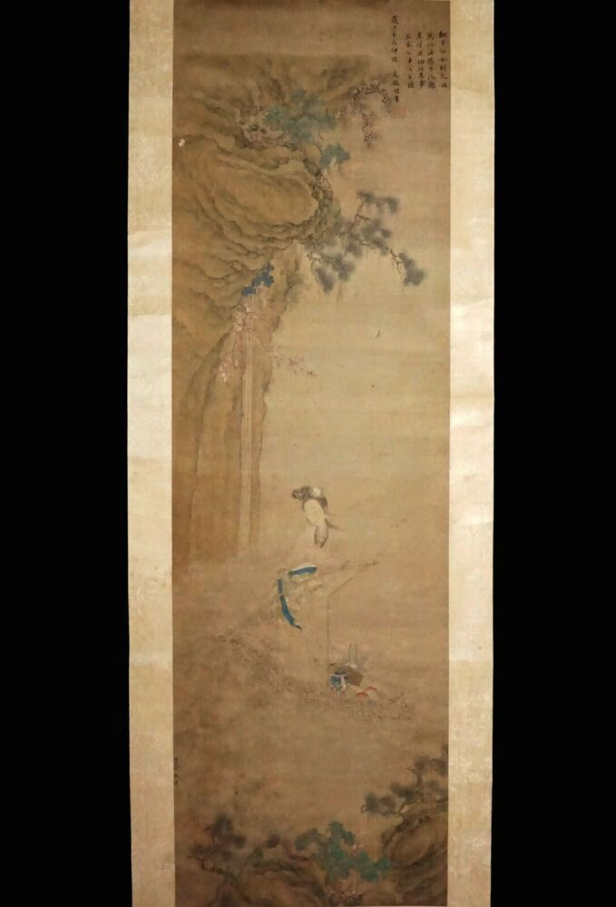 Antique painting traditional Chinese scroll painting,old