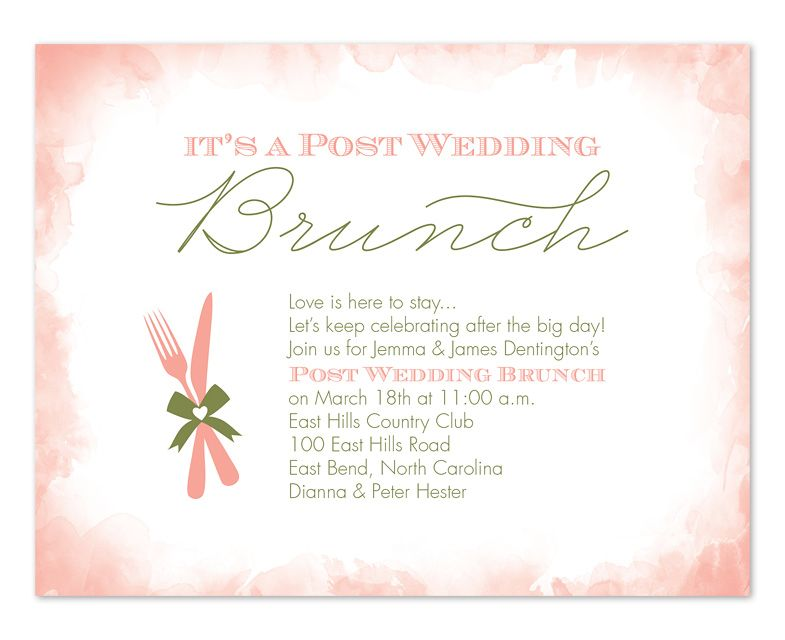 Wedding Reception Invite Wording: Post-Wedding Brunch