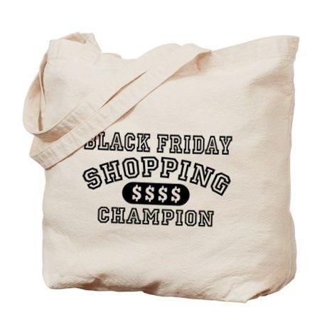 Black Friday Shopping Champion Canvas Tote Bag