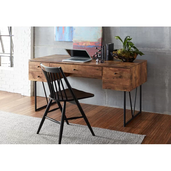 Fallon Reversible Desk In 2020 Desk With Drawers Wood