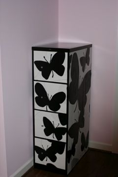 Tutorial  Covering File Cabinet With Photocopied Designs. Pink Mohair  Domino Mary McDonald Chinoiserie Chic
