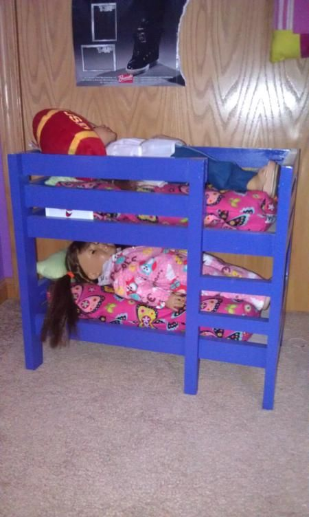 american girl bunk bed do it yourself home projects from ana white diy doll paraphernalia. Black Bedroom Furniture Sets. Home Design Ideas