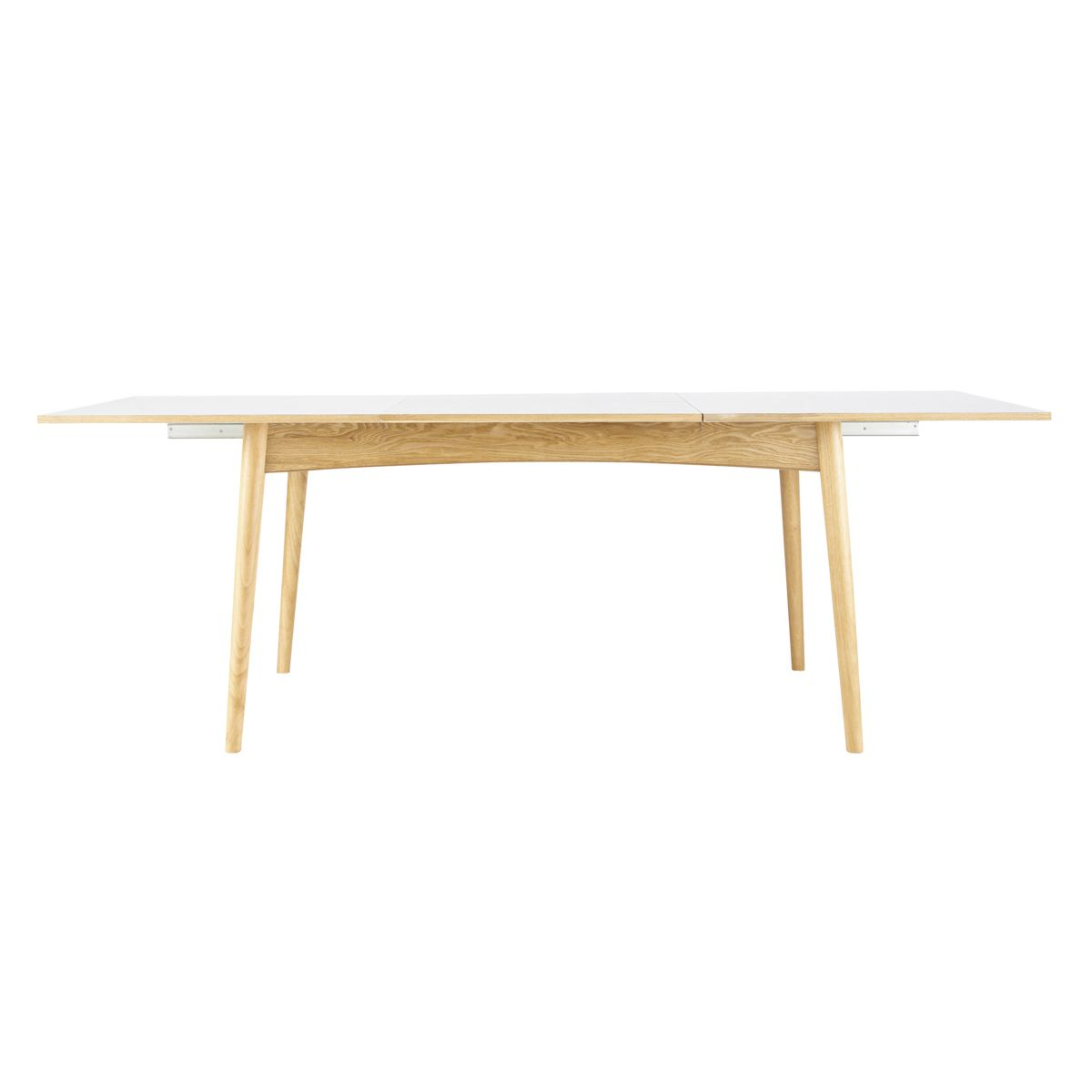 Mesa de comedor extensible blanca de 6 a 10 personas for Mesas de comedor maison du monde
