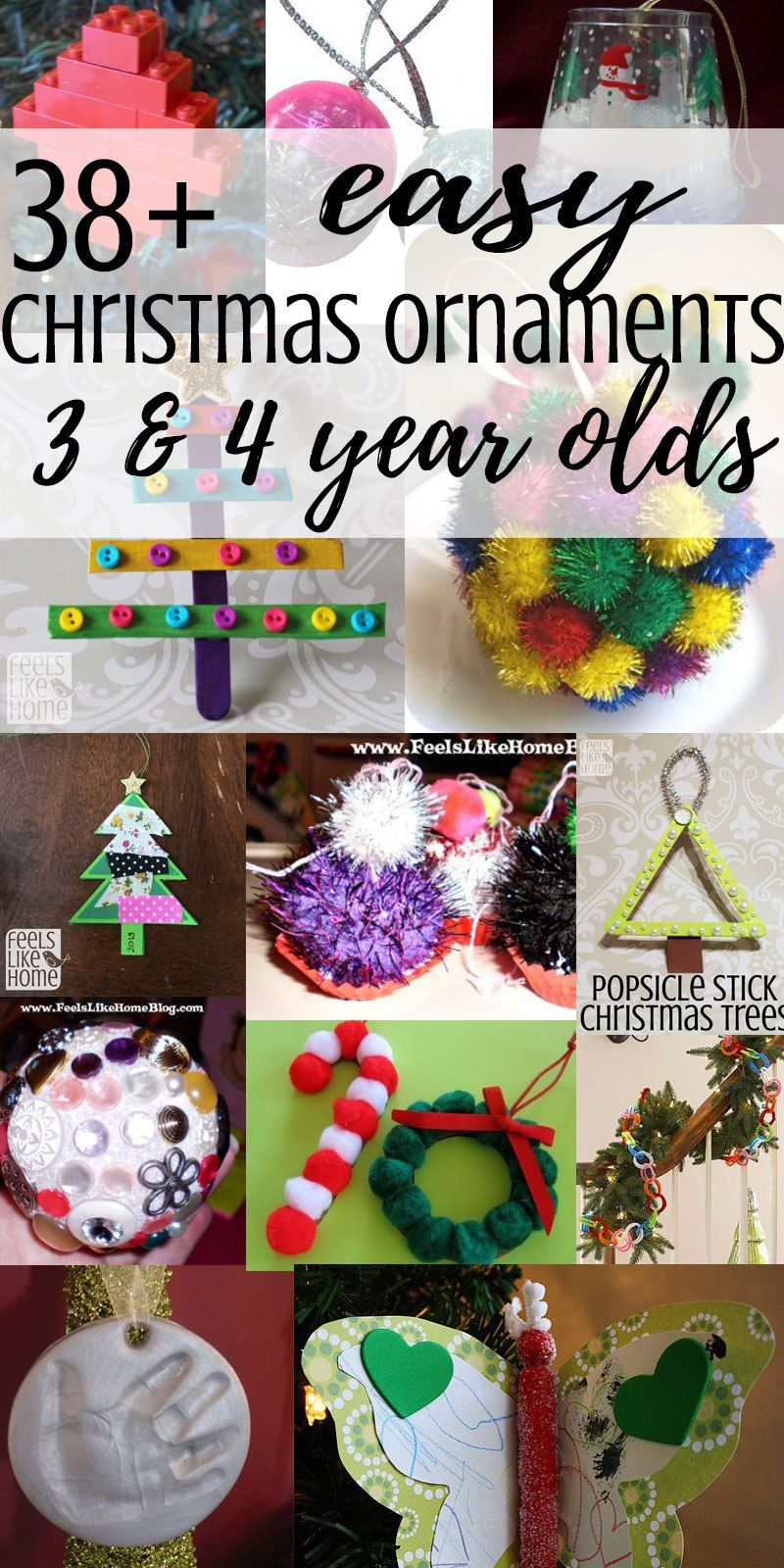 38+ easy DIY Christmas tree ornaments that 3 and 4 year