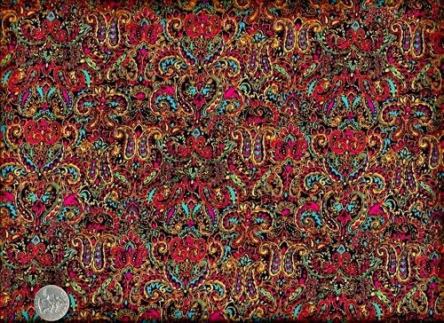 Cotton Quilt Fabric Color Explosion Ethnic Paisley Bright Colorful ... : ethnic quilt - Adamdwight.com