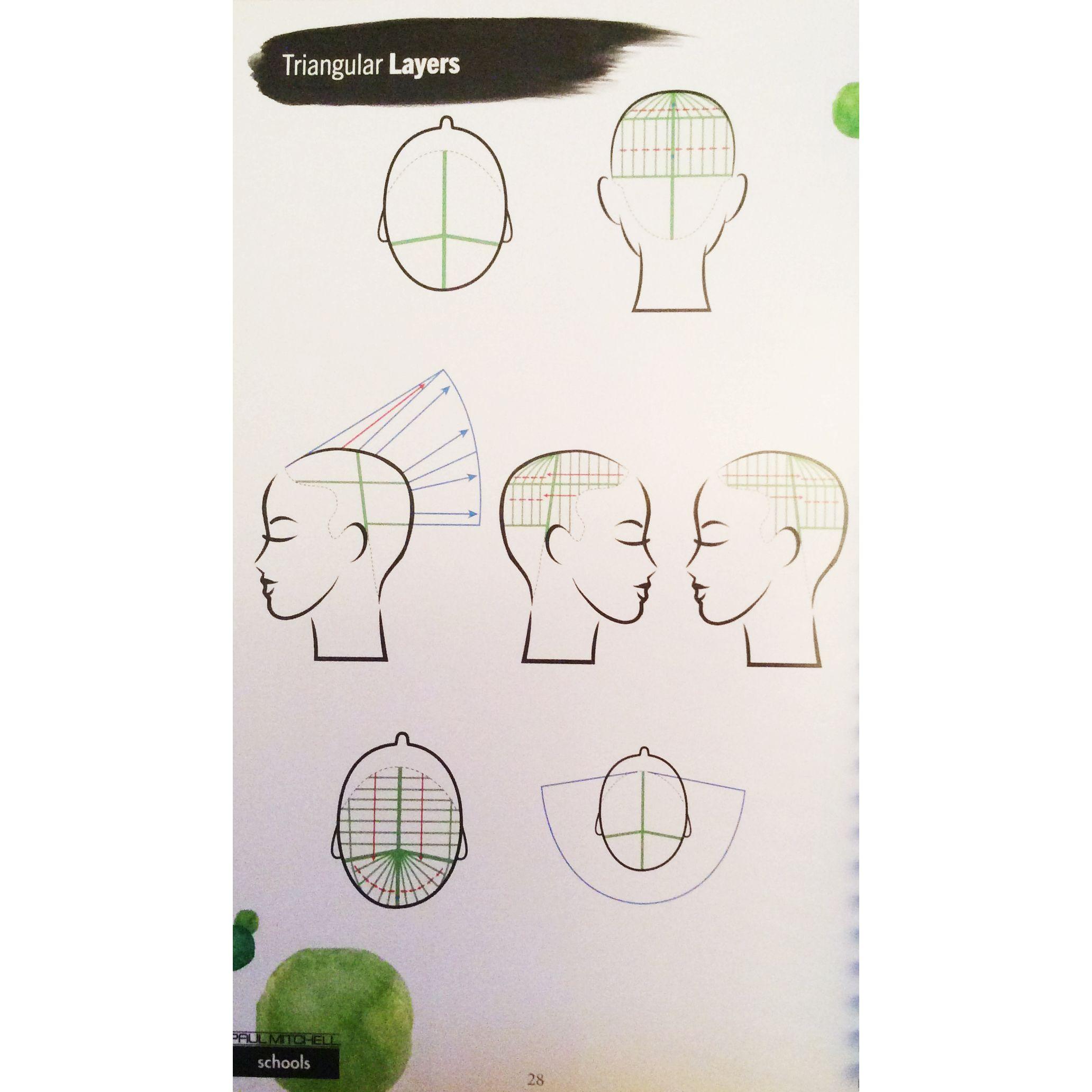 90 Degree Diagram Volkswagen T5 Wiring Diagrams Triangular Layer Hair Pinterest Cuts
