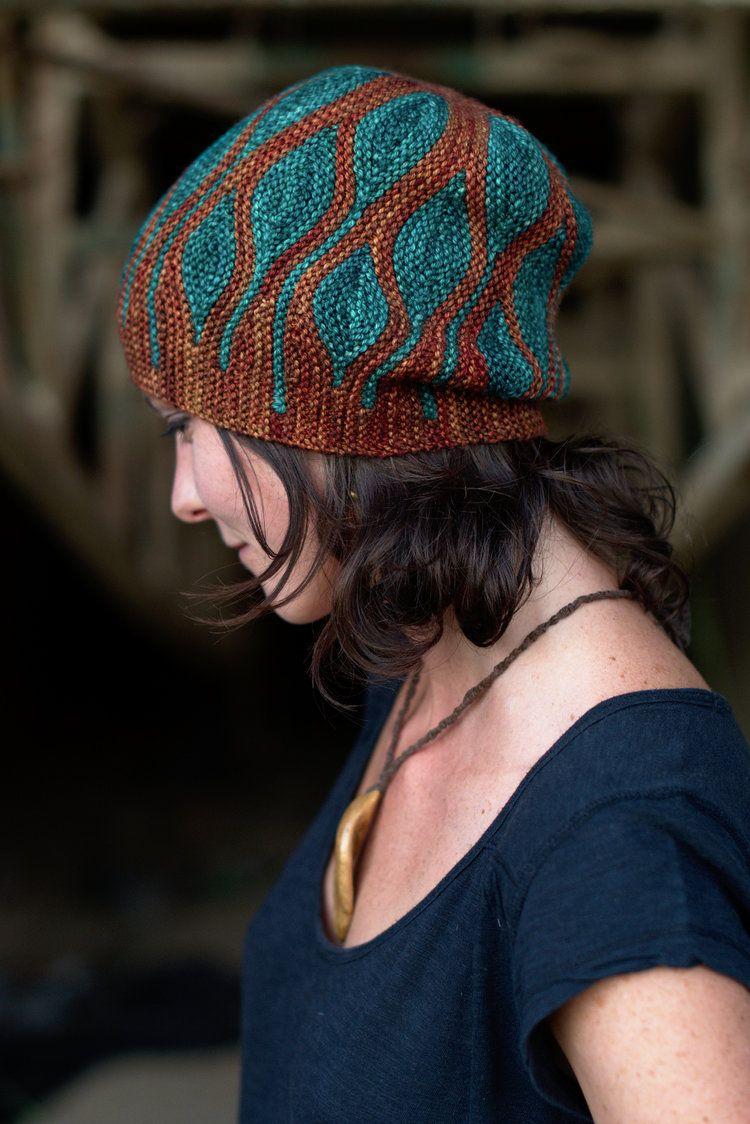 тоф боком вязать короткие строки Colourwork образец вязания шляпа