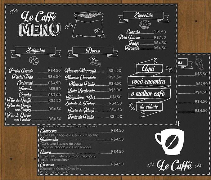 Resultado De Imagem Para Modelo De Cardapio De Cafe Simples