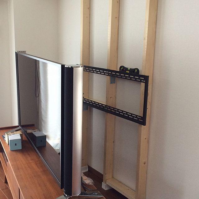 ディアウォールで解決 収納も壁掛けテレビも自由自在 Diy 壁掛け
