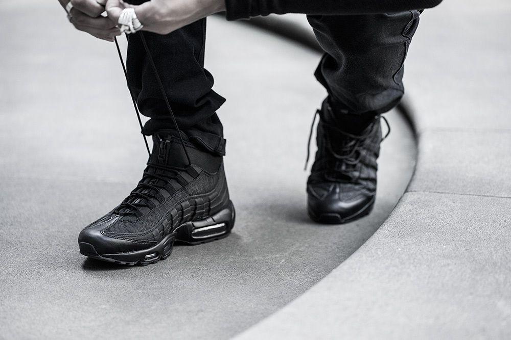 air max 95 mid zip black sneakers nike sneaker boots