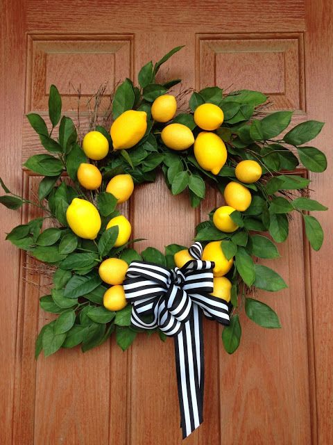 Diy Lemon Wreath Diy Spring Wreath Summer Diy Lemon