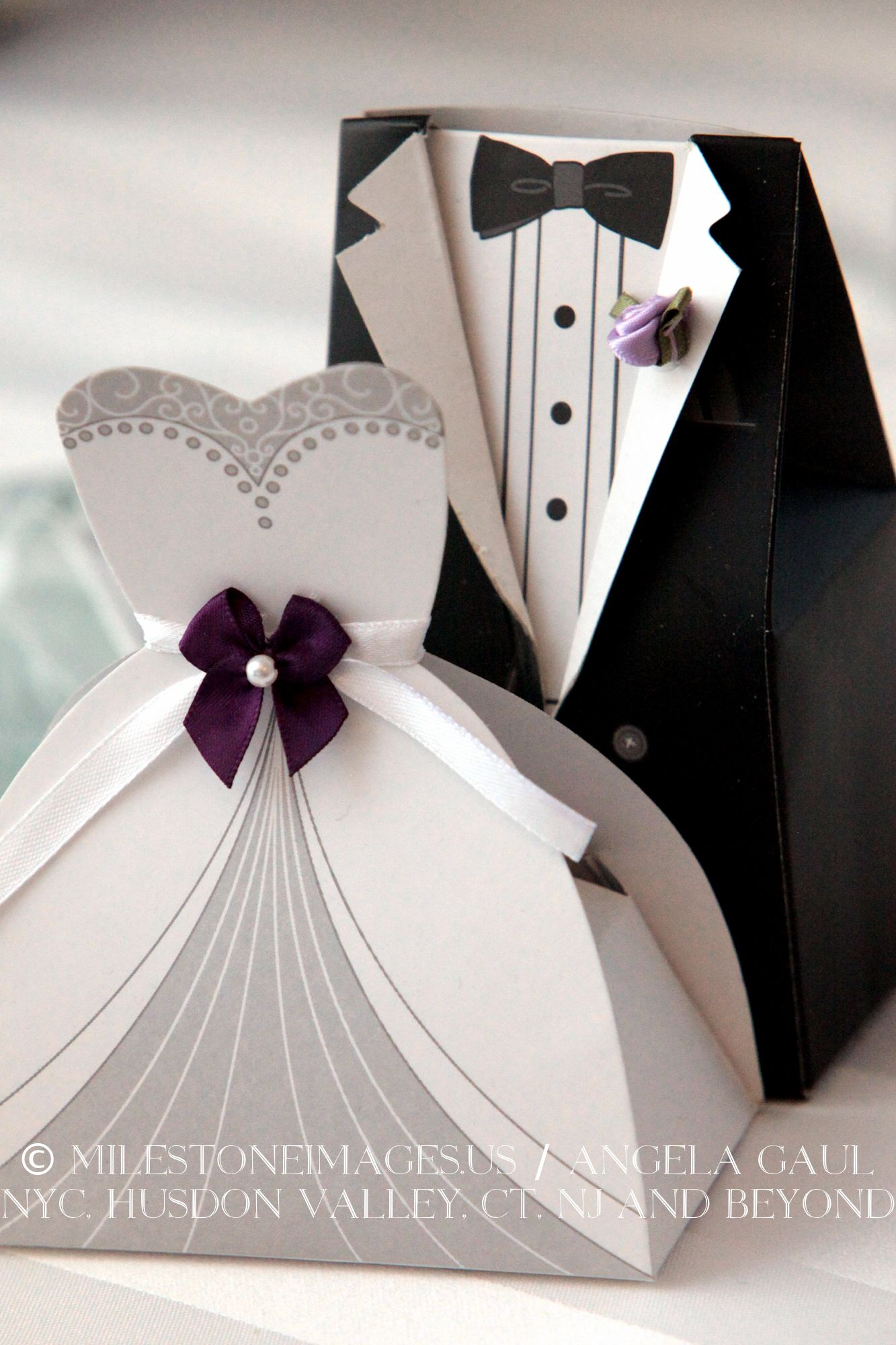 Favors: bride and groom candy boxes | Real Wedding Details ...