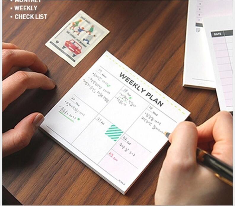 Korea classic plan Memo notebook Blank Paper Word book Notpad - memo sample in word