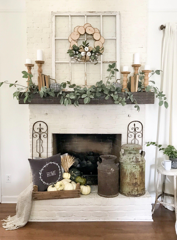 My Fall Mantel Decor With Joann Fireplace Mantle Decor