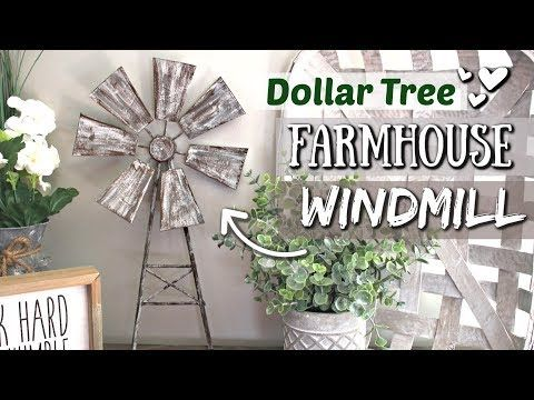 DIY Dollar Tree Farmhouse Decor | DIY Farmhouse Windmill | Krafts by Katelyn