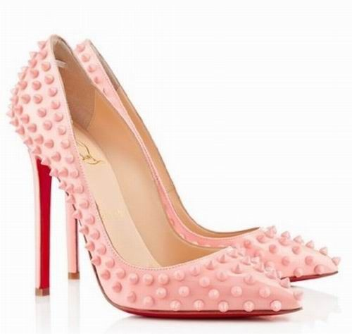christian louboutin pigalle spikes 120mm pointed toe pumps black