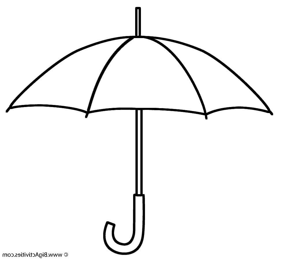 Umbrella Coloring Umbrella Coloring Page Umbrella Template Umbrella