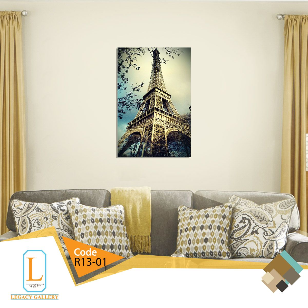 Modern Tableau Eiffel Tower Tableau For Living Room Home Decor Decals Home Decor Decor