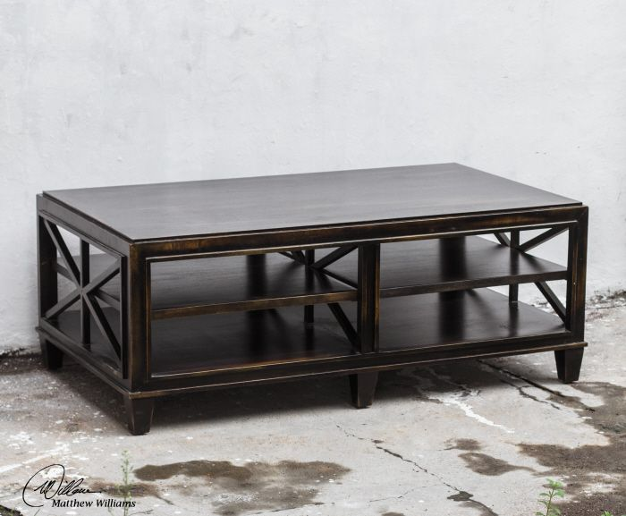 Uttermost Asadel Coffee Table Carved Moldings And Open