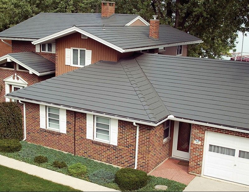 Metal Roofing Photo Gallery Metal Roofing Alliance Photos Of Metal Roof Types And Styles Farmhouse Exterior Farmhouse Exterior Colors Metal Roof