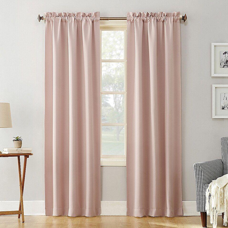 Sun Zero Mariah Room Darkening 84 Inch Rod Pocket Window Curtain