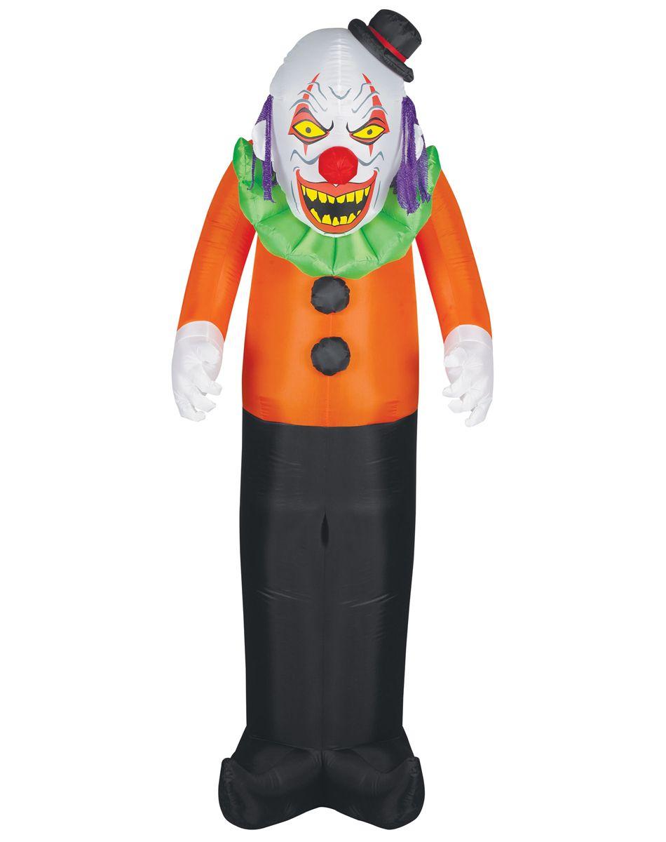 scary clown airblown inflatable spirit halloween