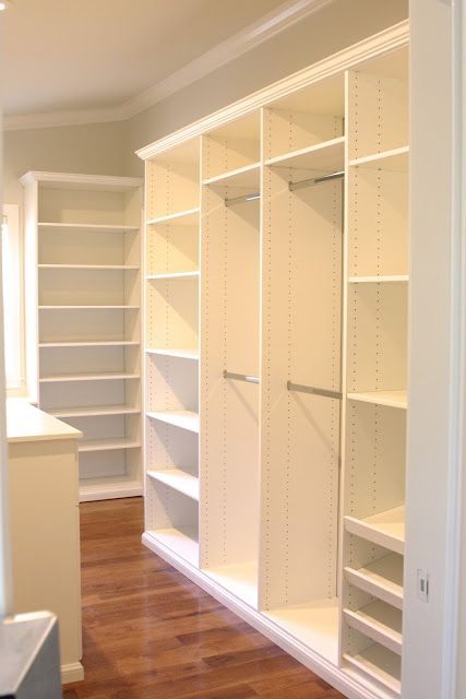 Master Closet Build-Out | Master closet, Organizing and Small spaces