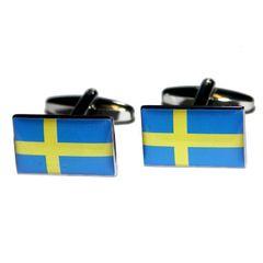 Sweden Swedish Flag Cuff Connection Swedish Flag Sweden Flag Cufflink Box