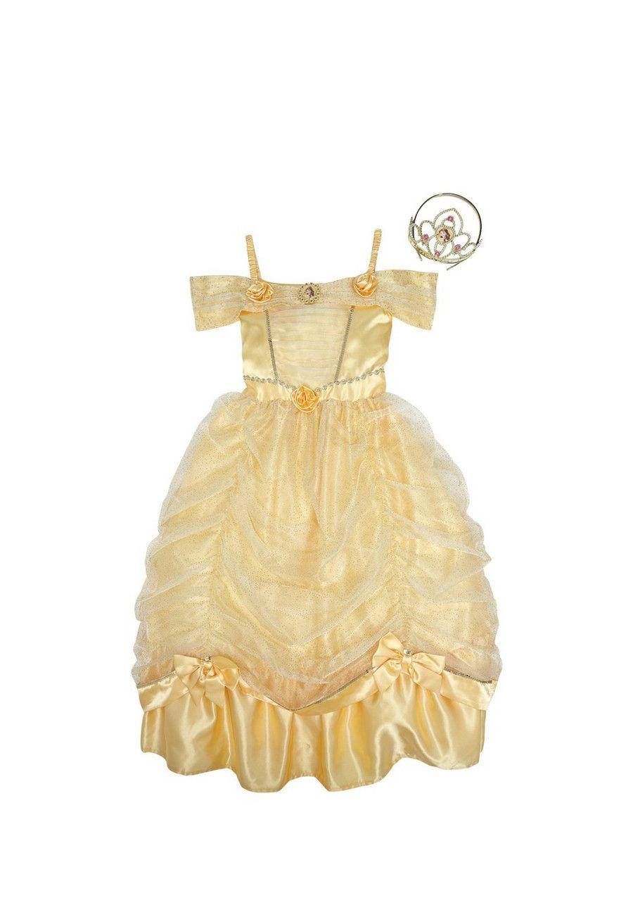 Yellow dress like belle  Clothing at Tesco  Disney Princess Belle Premium Dress   My