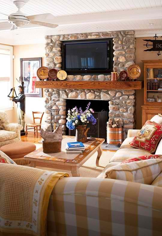 Attractive 20 Amazing TV Above Fireplace Design Ideas Part 22
