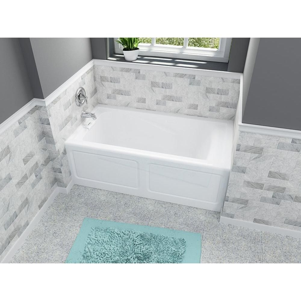 American Standard EverClean 60 in. x 32 in. Left Drain Soaking Tub ...