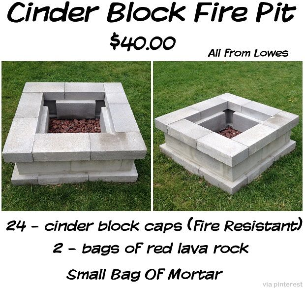 24 Fire Resistant Cinder Block Caps 2 Bags Of Lava Rock