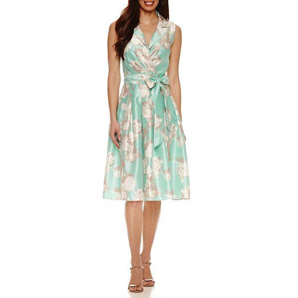 Jessica Howard Sleeveless Fit Amp Flare Dress Jcpenney