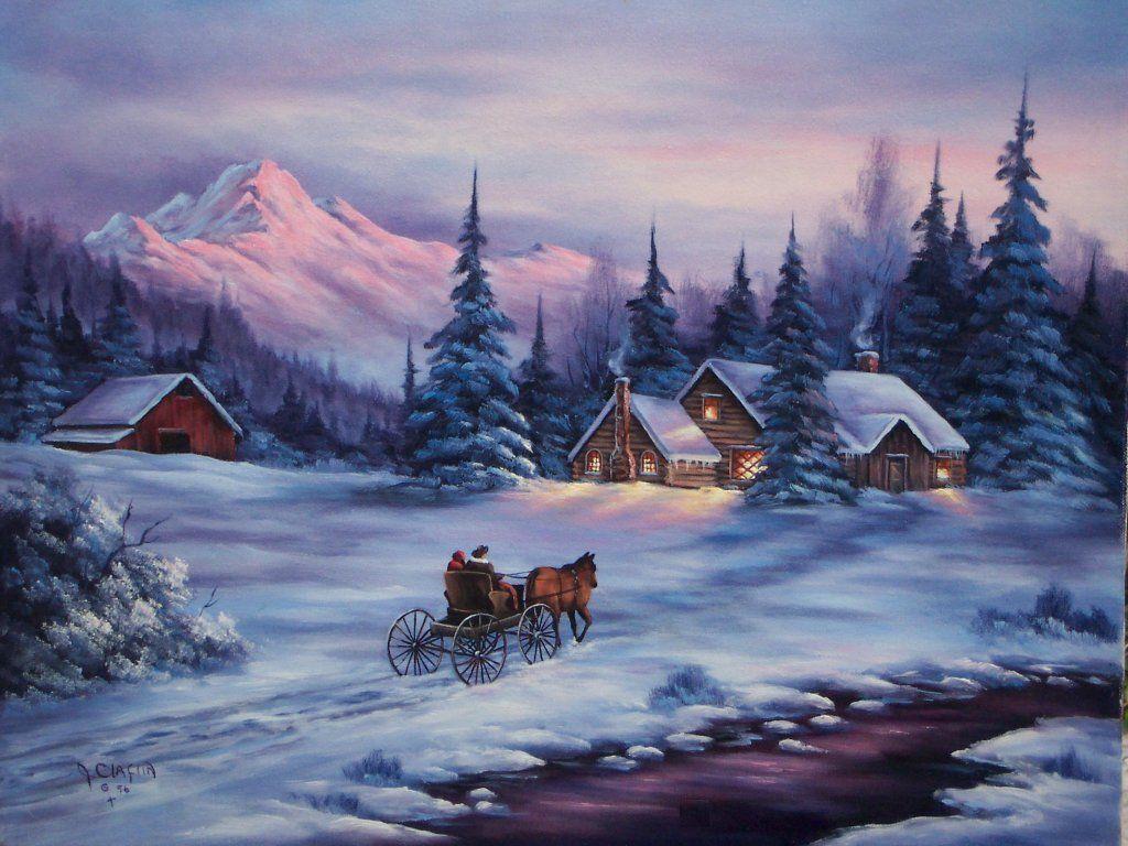 Paysage paysage noel neige paysage de neige en peinture paysage de neige et paysage noel - Paysage enneige dessin ...