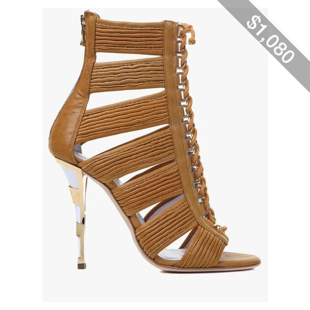 Balmain Hopi leather sandals