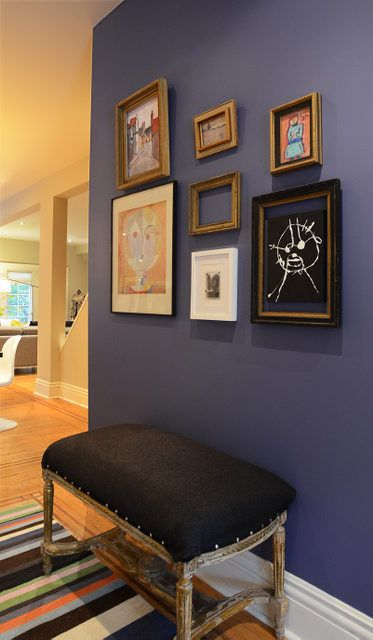 Accent Wall In Farrow Amp Ball 220 Pitch Blue Dining