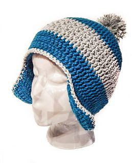 This hat is whimsical in nature, and makes sure you stay nice and toasty. Having the ear flaps prevents your ears from getting cold, while not being too covered that you can't hear those around you. It's my favorite hat so far, and can be custom made in just about any color.