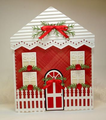 Creating In Carolina Christmas House Shaped Card Shaped Cards New Home Cards Cards Handmade
