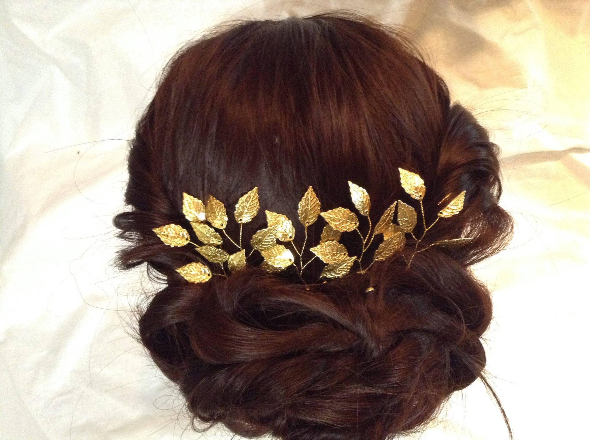 hair crown leaf hair piece | two become one | bridal hair